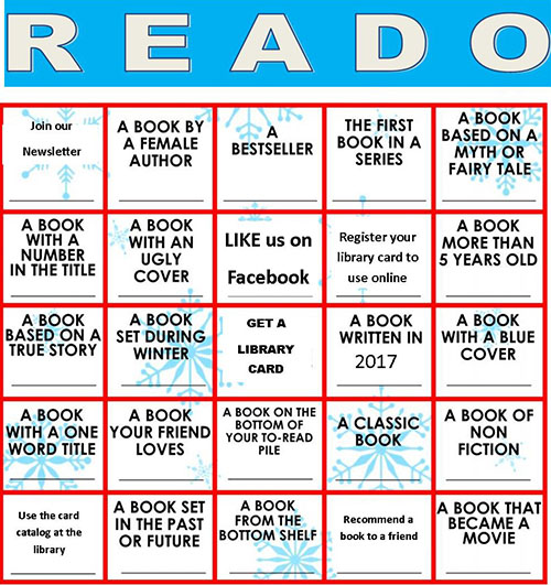 Adult Reading Bingo